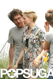 Michelle Williams and Dustin Yellin kept close in Brooklyn.