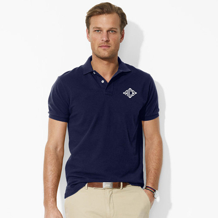 Preppy dads and classic dressers will adore a customized Ralph Lauren polo ($98).