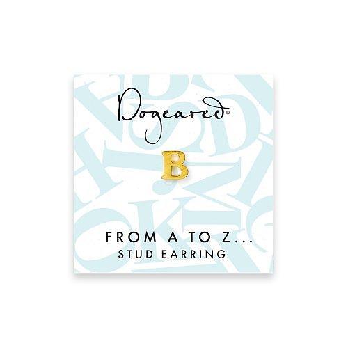 open b earring, gold dipped