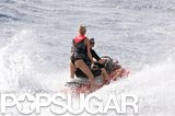 Anna Kournikova showed off her toned behind on a jet ski ride in St. Barts with Enrique Iglesias in January 2006.
