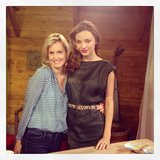 Miranda Kerr had an interview with Ali Wentworth in NYC. Source: Instagram user mirandakerr