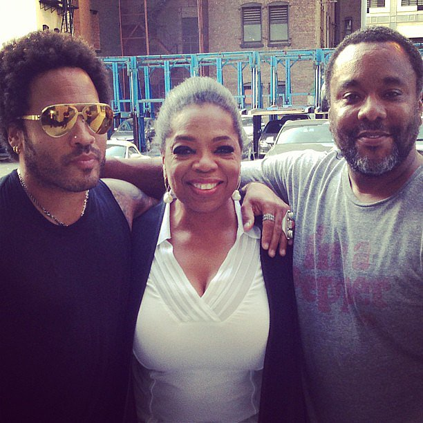 Oprah enjoyed the rough cut of her upcoming film The Butler with co-star Lenny Kravitz and director Lee Daniels. Source: Instagram user oprah