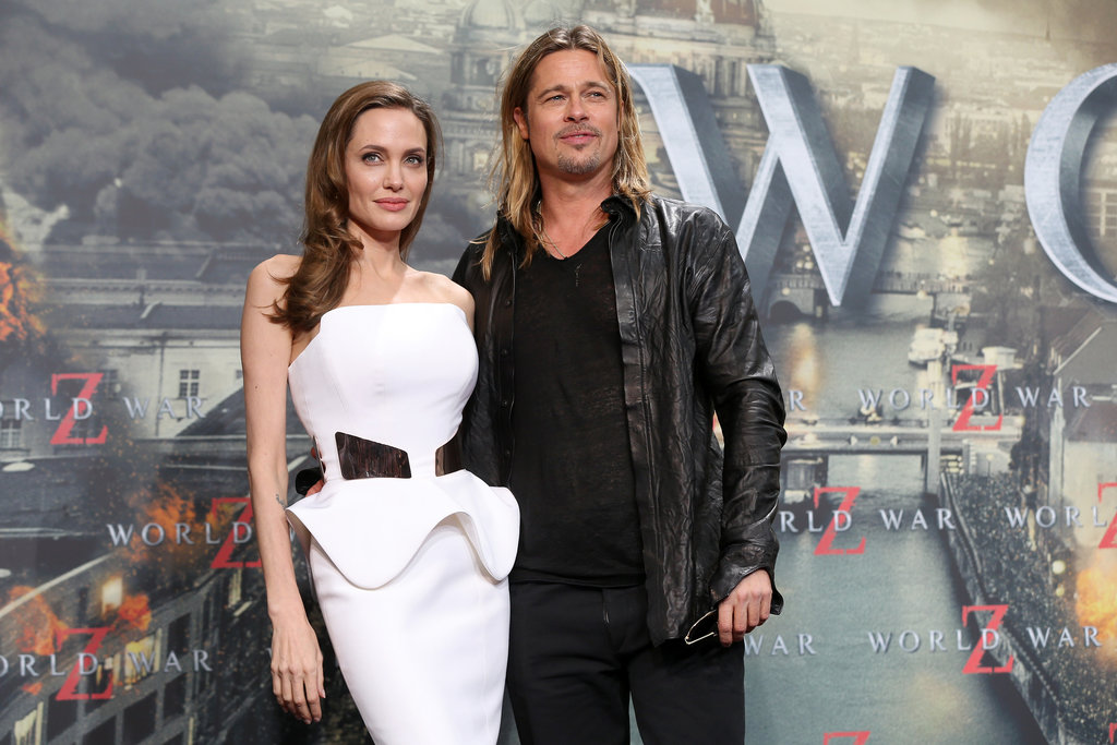 Angelina Jolie marked her 38th birthday at the Berlin premiere of World War Z.