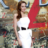 See Angelina's Sleek White Dress From Every Angle