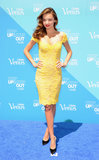 Miranda Kerr promoted the Gillette Venus Goddess experience in NYC.