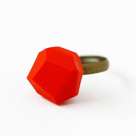 AMM Jewelry Geo Adjustable Ring Red