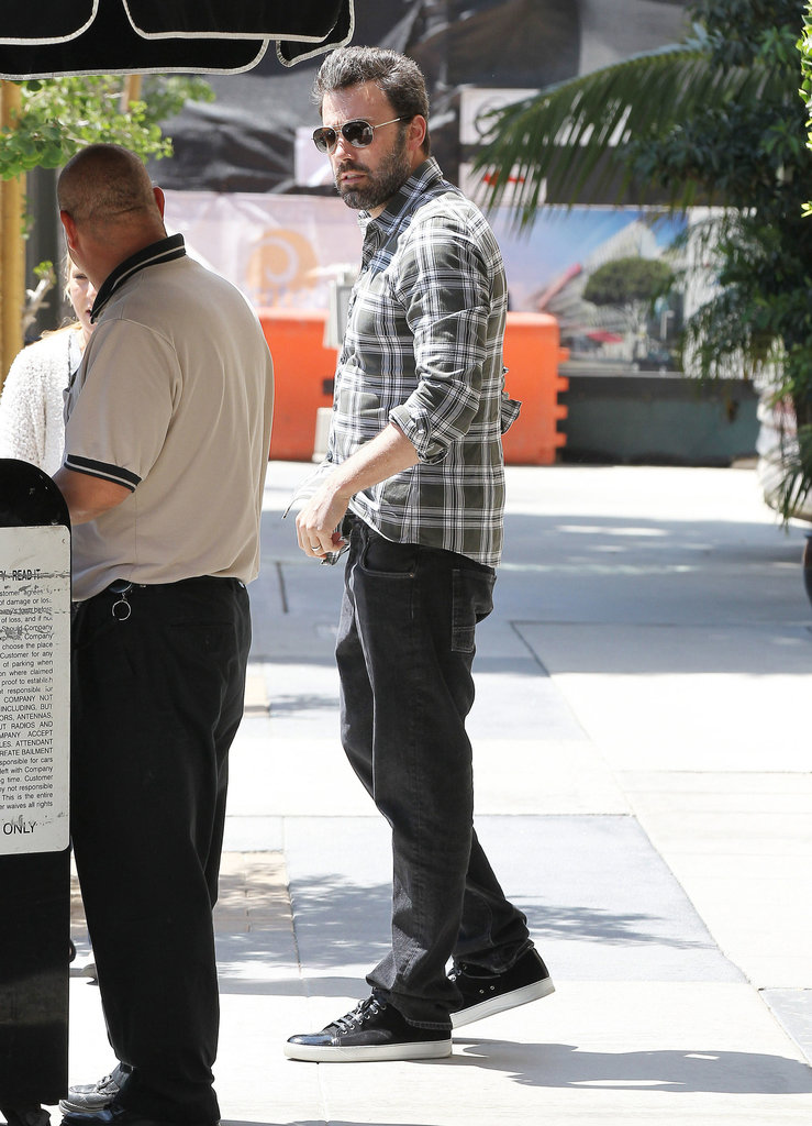 Ben Affleck stepped out solo in Beverly Hills on Tuesday.