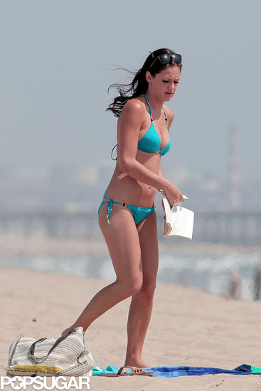 Desiree Hartsock walked along the beach.