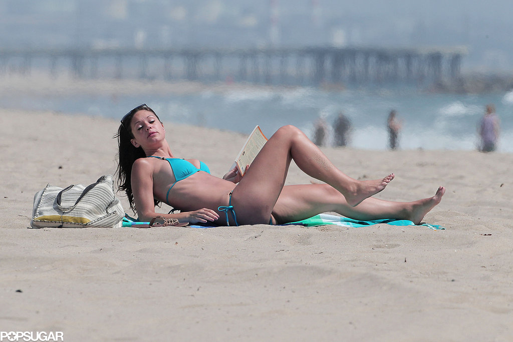 Desiree Hartsock soaked up some sun.