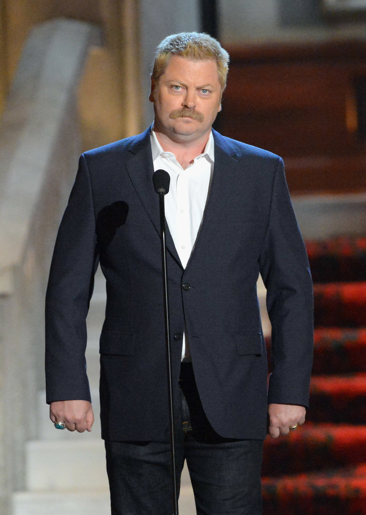 Nick Offerman debuted a blond look in 2012 at the Guys Choice Awards.