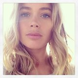 Doutzen Kroes shared a beachy, sun-lit selfie. Source: Instagram user doutzen