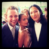 Nicole Richie looked super sexy at the CFDA Awards — she shared this snap posing with Derek Blasberg and Alexander Wang. Source: Instagram user nicolerichie