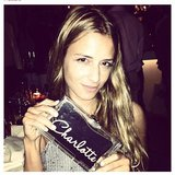 We can't get enough of Charlotte Ronson's personalised Charlotte Olympia clutch — we want! Source: Instagram user cjronson
