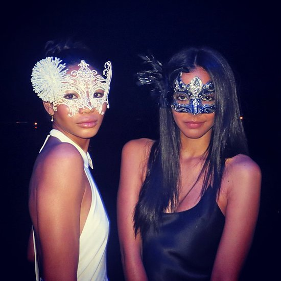 Chanel Iman attended a masquerade bash. Source: Instagram user chaneliman