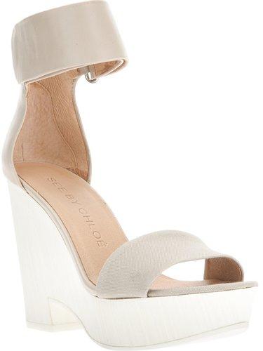 See By Chloé wedged platform sandal
