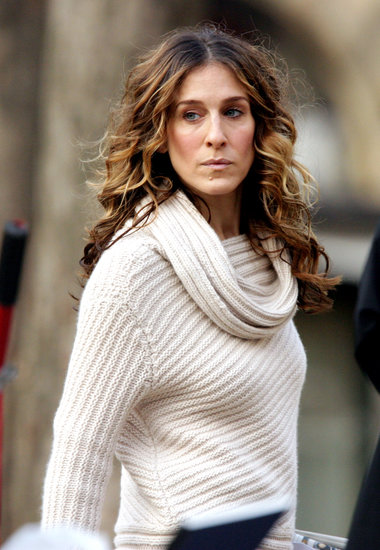 Always the trendsetter, Carrie wore increasingly popular balayage highlights before they were popular.