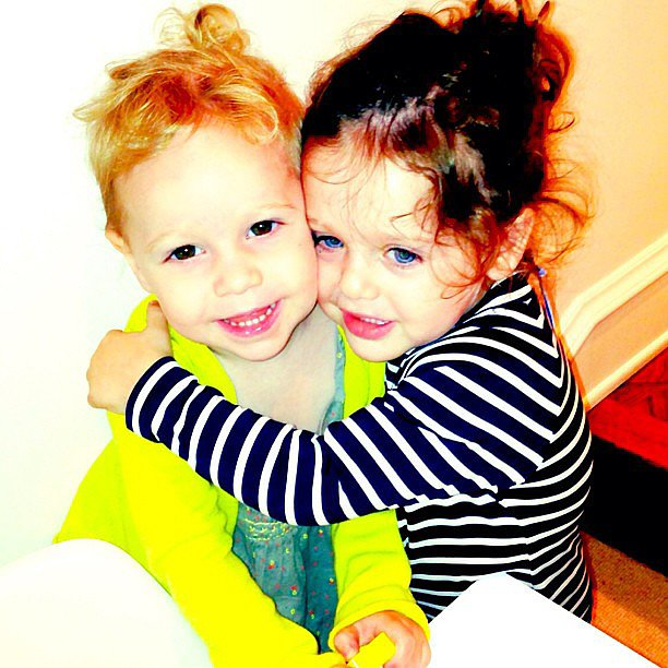 Skyler Berman had a post-swim-class playdate with a friend. Source: Instagram user rachelzoe