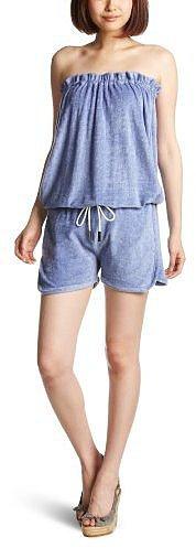 (ダブルスタンダードクロージング)DOUBLE STANDARD CLOTHING ベアトップショートパンツオールインワン 2184132 A サックス F