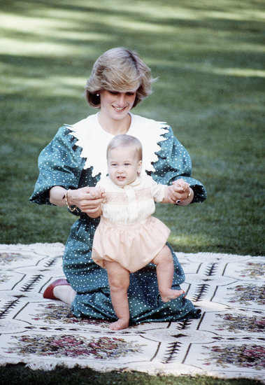 An adorable Prince William came out to play with his mom, Princess Diana, during a 1983 trip to New Zealand.