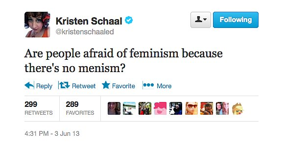 @kristenschaaled contemplates the fear of feminism.