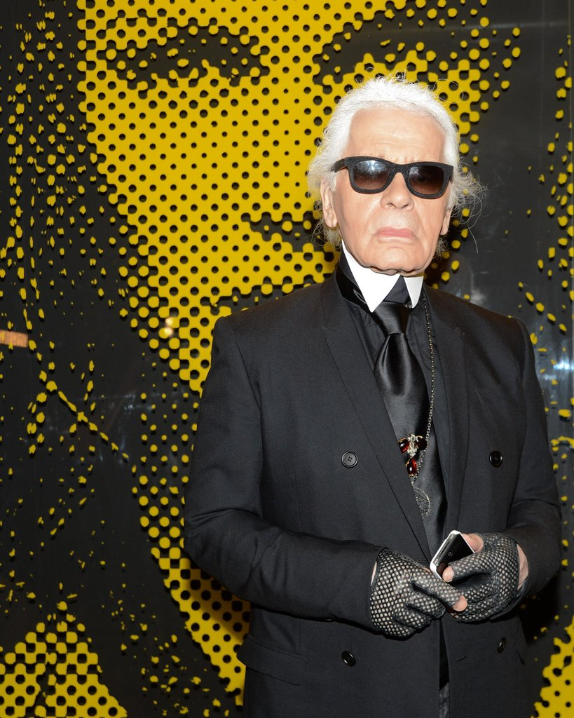 """I am sort of a vampire, taking the blood of other people.""  — Karl Lagerfeld on how he works, according to Vogue UK. Source: Billy Farrell/BFAnyc.com"