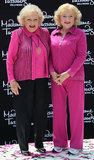 Betty White color-coordinated with her wax double during a June 2012 unveiling in Hollywood.