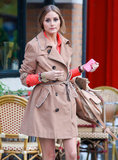 Olivia Palermo looked adorable while on set for a TV pilot in NYC on Thursday.