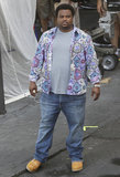 Craig Robinson was deep in thought while filming scenes for Hot Tub Time Machine 2 in New Orleans.