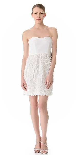Thread's strapless ruffled chiffon dress ($508) walks a fine line between simple and sexy — and it works.
