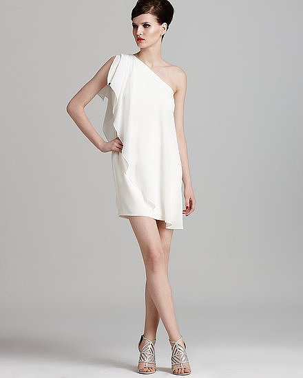 Aqua's one-shoulder chiffon dress ($188) is superfun, plus it won't break your budget.