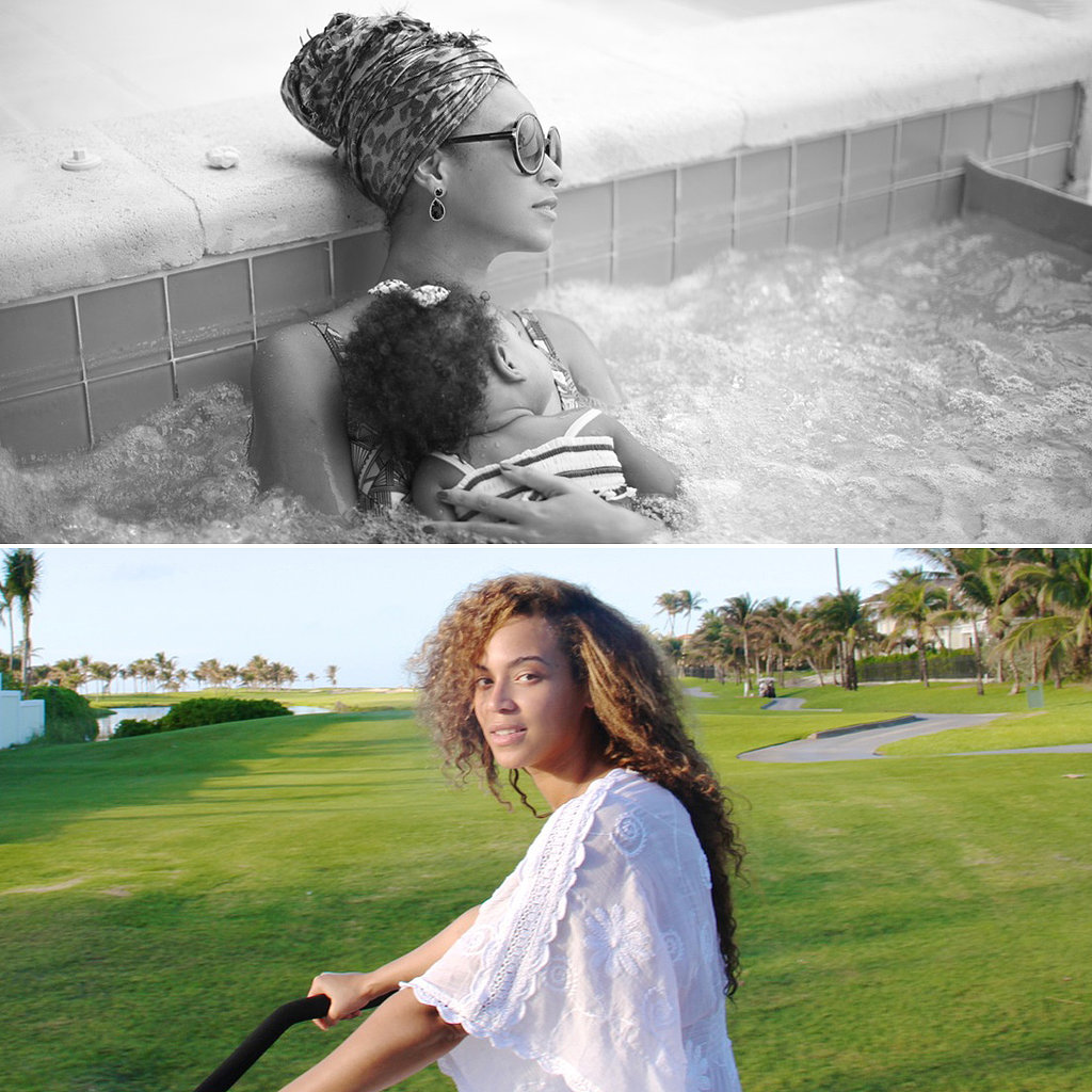 Beyoncé Bikes on the Beach and Hits the Hot Tub With Blue!