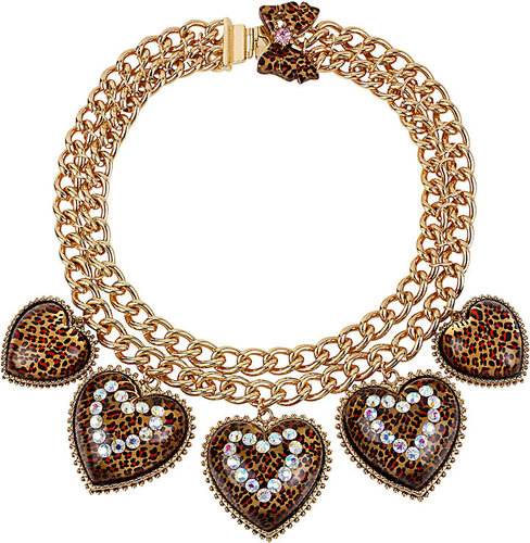 Leopard Heart Frontal Necklace