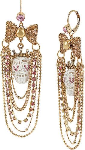Lace Skull Chain Earring