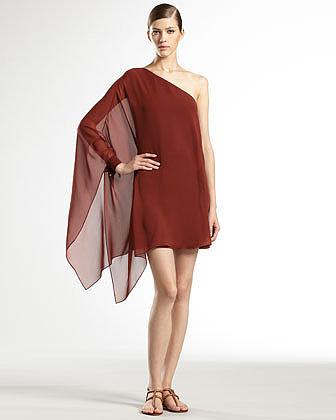 Gucci Light Georgette One-Shoulder Dress