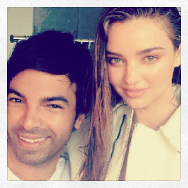 Miranda Kerr went au naturel for a shoot with hair stylist Harry Josh. Source: Instagram user mirandakerr