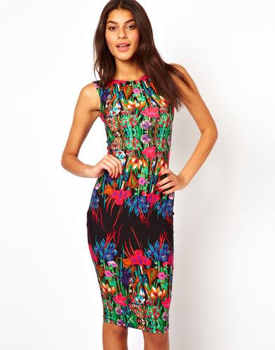 ASOS Reflection Floral Sleeveless Midi Dress