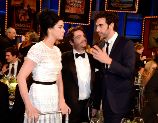 Sacha Baron Cohen chatted with Sarah Silverman and Zach Galifianakis.