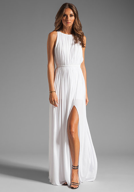 For a little sexy leg action on your big day, choose this Sen Flaviana dress ($286).