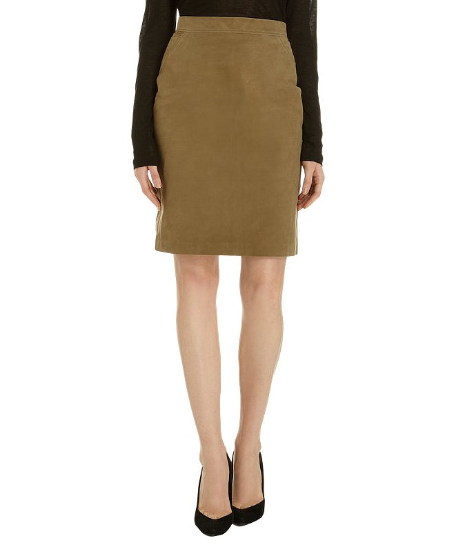 The coolest Autumn pencil skirt comes in the form of this suede pencil skirt ($1,350).