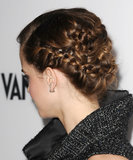 From the back, Emma's updo was an intricate braided style.