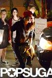 Kristen Stewart left En Sushi in LA.