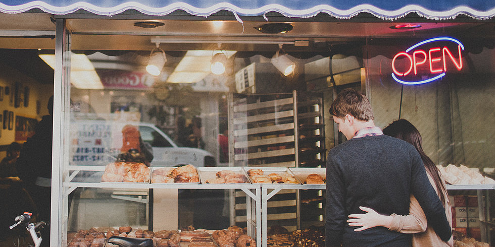 Sweet Beginnings: Doughnut Shop Engagement Shoot