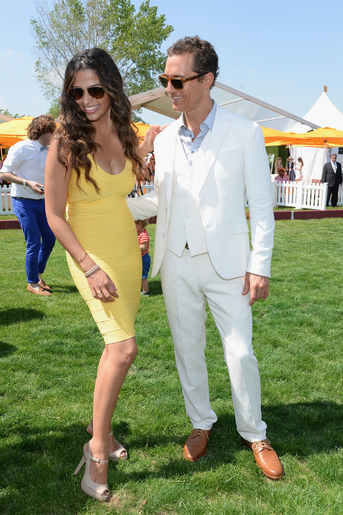 Camila Alves and Matthew McConaughey shared a laugh at the June 2013 Veuve Clicquot Polo match classic in New Jersey.