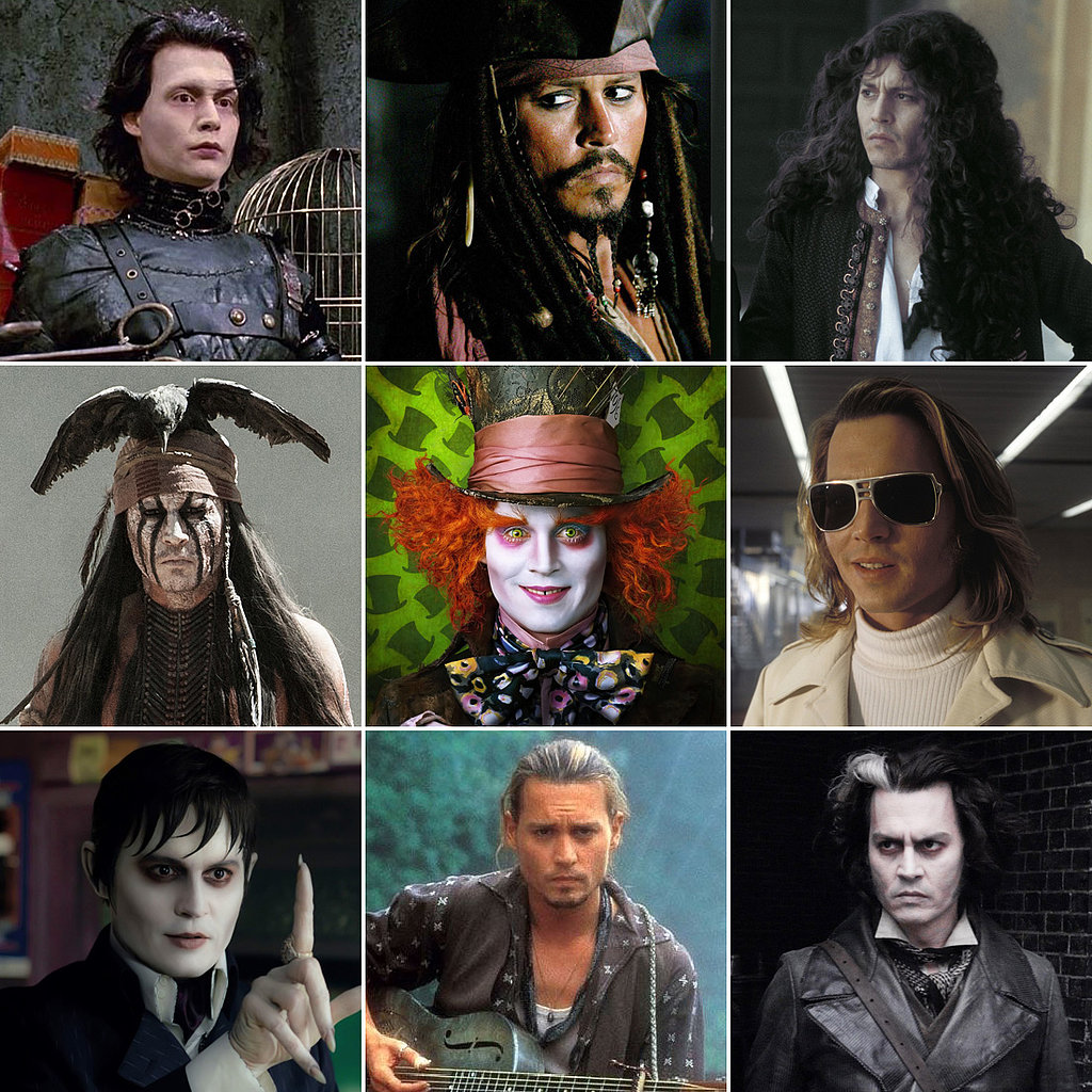 Celebrate Johnny Depp's 50th Birthday With His Many Weird and Wacky Looks