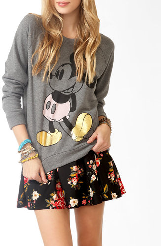 FOREVER 21 Contrast Mickey Mouse Pullover