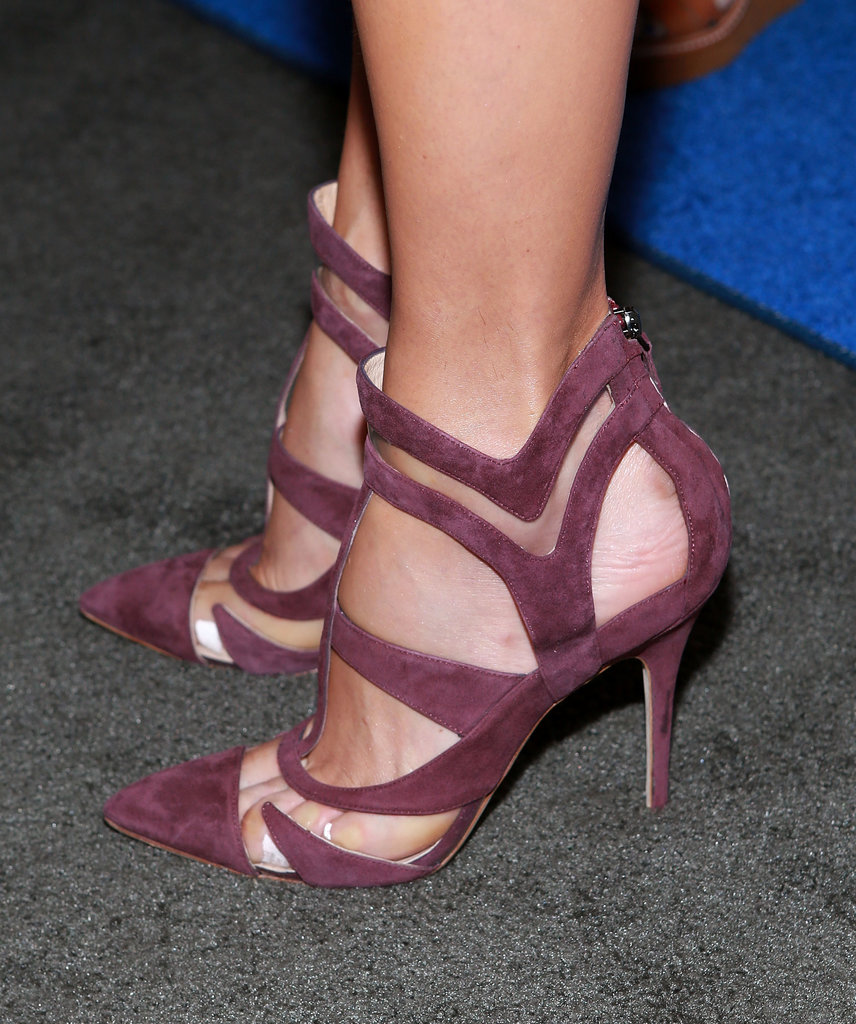 The cutouts made Stacy's pair stand out from a sea of standard pumps.