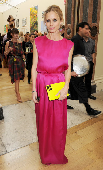 Laura Bailey at the Royal Academy of Arts Summer exhibition in London.