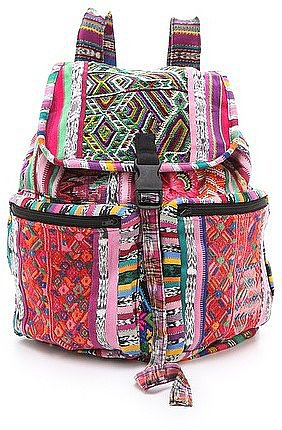 We're obsessed with a chic knapsack for the Summer, and there's no better place to be hands-free than at a music festival. This Stela 9 Santiago Patchwork Backpack ($89) will tote your stuff in style.