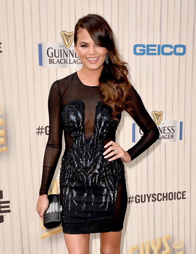 Chrissy Teigen walked the red carpet at the Guys Choice Awards.