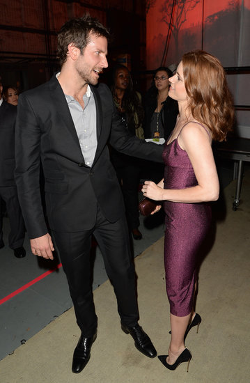 Bradley Cooper and Amy Adams caught up backstage.